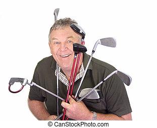 παίζων γκολφ