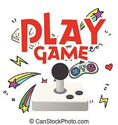 παίζω , αστέρι , εικόνα , παιγνίδι , μικροβιοφορέας , φόντο , χειριστήριο , κυνήγι