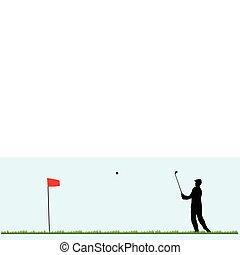 παίζω , γκολφ