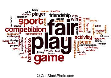 παίζω , λέξη , δίκαια , σύνεφο
