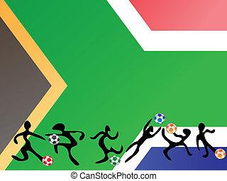 παίξιμο , νότια αφρική , ποδόσφαιρο , σημαία