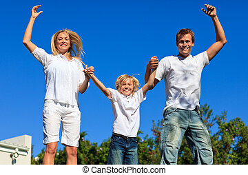 παίξιμο , οικογένεια , κήπος