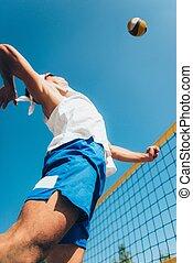 παίχτης , αλιεύω , ακρογιαλιά volleyball