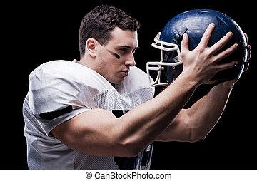 παίχτης , κράτημα , spirit., μάχη , πηδάλιο , ποδόσφαιρο , ...