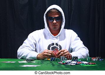 παίχτης , πόκερ , δροσερός