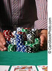 παίχτης , πόκερ , μετάβαση , όλα