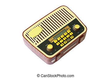 παίχτης , φόντο , ραδιόφωνο , retro , κασέτα , άσπρο , mp3