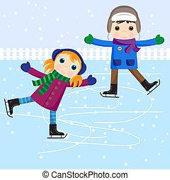 παγοδρομία , αγόρι , αδύναμος δεσποινάριο , πάγοs