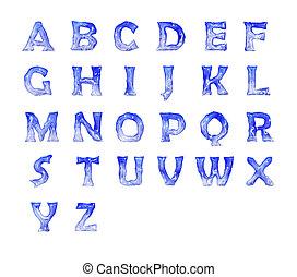 παγωμένος , αλφάβητο