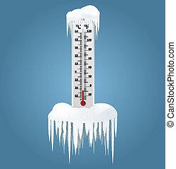 παγωμένος , θερμόμετρο
