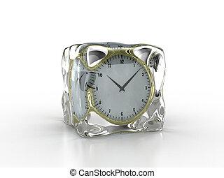 παγωμένος , ρολόι