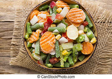 παγωμένος , vegetables.