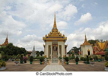 παγόδα , penh , ασημένια , καμπότζη , phnom