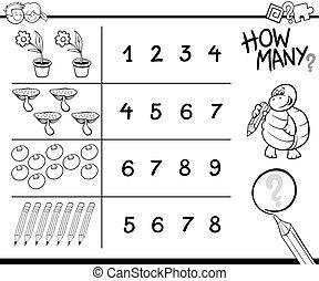 παιγνίδι , μπογιά , αρίθμηση , σελίδα