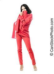 παιγνιδιάρης , suit., μελαχροινή , απομονωμένος , κόκκινο