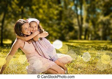 παιδί , - , ευτυχία , αυτήν , μητέρα