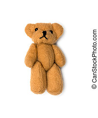 παιχνίδι , αρκούδα , απομονωμένος , πάνω , αγαθός φόντο