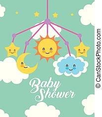 παιχνίδι , θαμπάδα , κινητός , αντιγραφή , μπόρα , μωρό , κάρτα