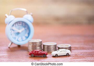 παιχνίδι , ρολόι , αυτοκίνητο , φόντο. , ξύλο , τραπέζι , επινοώ , θημωνιά