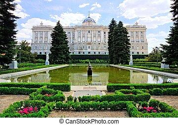 παλάτι , μαδρίτη , ασχολούμαι με κηπουρική , βασιλικός , διαμέσου , ισπανία , βλέπω