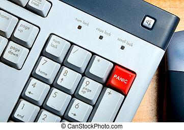 πανικοβάλλομαι κουμπί
