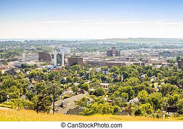 πανόραμα , γρήγορος , νότιο , πόλη , dakota.