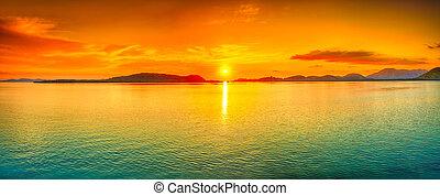 πανόραμα , ηλιοβασίλεμα