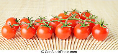 πανόραμα , φόντο , κεράσι , φρέσκος , μπαμπού , ντομάτες