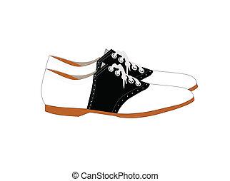 παπούτσια , σαμάρι