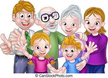 παππούς και γιαγιά , μικρόκοσμος , γονείς , γελοιογραφία