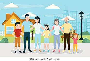 παππούς και γιαγιά , μικρόκοσμος , γονείς , οικογένεια , ευτυχισμένος