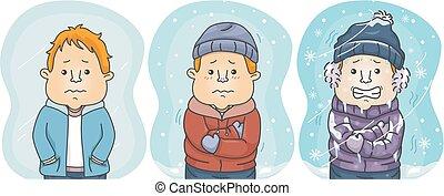 παράθεση , κρύο , άντραs , βαθμός , coldest