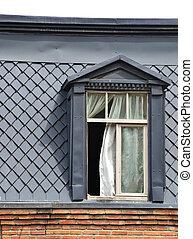 παράθυρο , γριά , οροφή