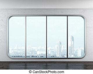 παράθυρο , μοντέρνος , γραφείο