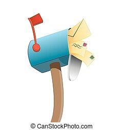 παραγεμιστός , κουτί για γράμματα
