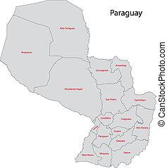 παραγουάη , γκρί , χάρτηs