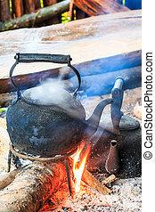 παραδοσιακός , καφέs , αντίκα , καφετιέρα , crema, σε , doi , inthanon, nati