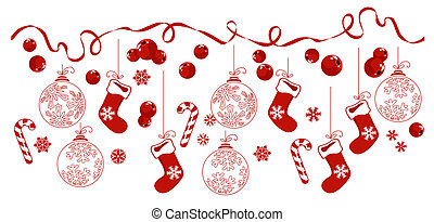 παραδοσιακός , οριζόντιος , symbols., σύνορο , xριστούγεννα
