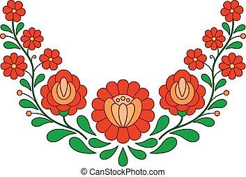 παραδοσιακός , πρότυπο , ούγγρος , άνθρωπος , κέντημα