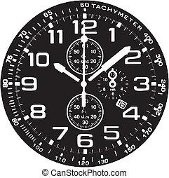 παρακολουθώ , ρολόι