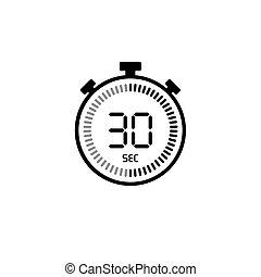 παρακολουθώ , σύμβολο , timer., 30 , ρολόι , χρονόμετρο , εικόνα , ψηφιακός , seconds , μετρών την ώραν , αντίστροφη μέτρηση