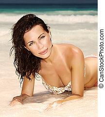παραλία , αισθησιακός , γυναίκα