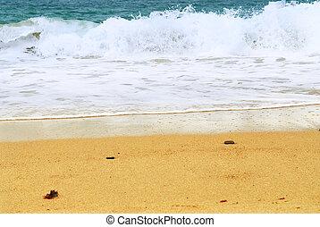 παραλία , αμμώδης , οκεανόs