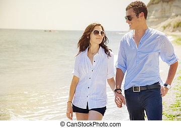παραλία , ζευγάρι , αγάπη , θάλασσα