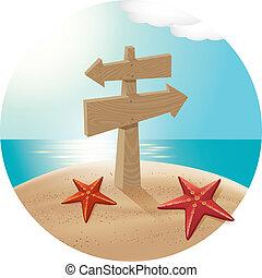 παραλία , θάλασσα , guidepost