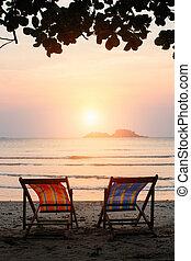 παραλία , καταπληκτικός , αρχόσχολος , sunset.