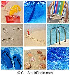παραλία , κολάζ