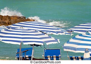 παραλία , μέσα , ο , καλοκαίρι