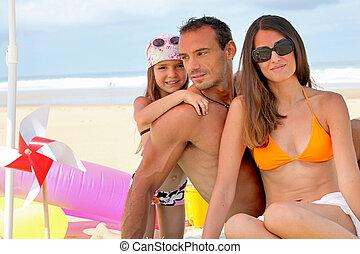 παραλία , οικογένεια