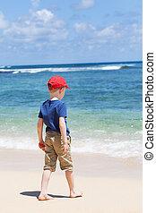 παραλία , παιδί
